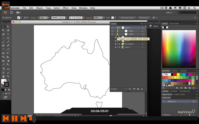 Map Course For Illustrator CS6 for Mac